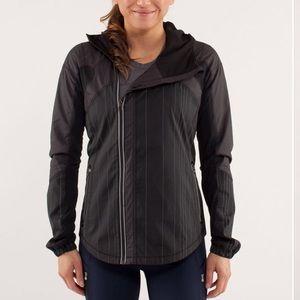 LULULEMON Black White Striped Get Up & Glow Jacket